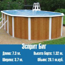 Каркасный, сборный бассейн Эсприт Биг (7,3 х 3,7)