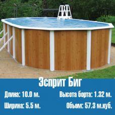 Каркасный, сборный бассейн Эсприт Биг (10,0 х 5,5)