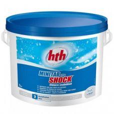 Быстрый стабилизированный хлор в таблетках HTH 5 кг по 20 гр MINITAB SHOCK