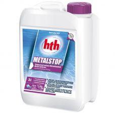 Средство для выведения металлов из воды HTH 3 л  METALSTOP LIQUID - против ржавчины в бассейне