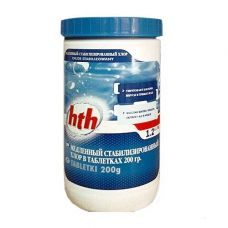 Медленный стабилизированный хлор в таблетках, 200 г, maxitab regular, 1,2 кг, hth - химия для бассейна